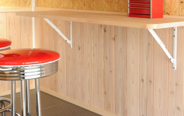 折りたたみテーブル&腰壁